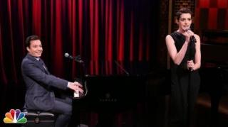 Jimmy Fallon & Anne Hathaway Turn Hot Rap Songs Into Musicals