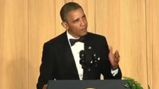 President Obama Pokes Fun at Himself During Press Dinner