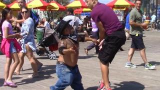 Prankster Gets Slapped by Little Person for Talking Slick