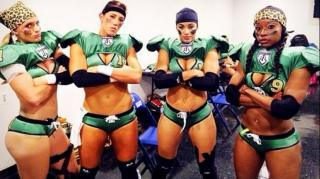 Beauty & Brawn: Lingerie Football Player Punches Coach on Cam