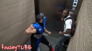 People Left Terrified Over Extreme Mortal Kombat Elevator Prank