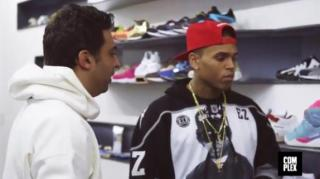 Chris Brown Goes Sneaker Shopping at Extra Butter