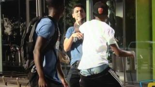 "Man Gets His Shoes & Pockets Checked in ""Robbing People"" Prank"