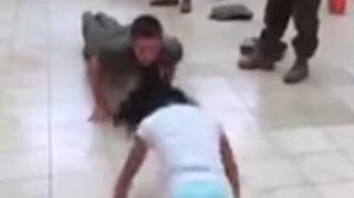 Super Strong: Little Girl Beats Marine at Push-Up Challenge