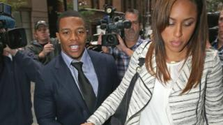 Ray Rice & Janay Palmer Seen Kissing After Elevator Incident