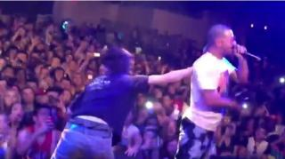 Fan Tackled by Security for Going on Stage During Riff Raff Show