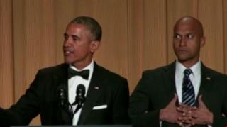 President Obama Flexes at White House Dinner with Funny Sketch