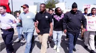 Wale Visits Baltimore High School & Marches With Students