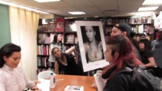 Anti-Fur Activists Crash Kim Kardashian's NYC Book Signing