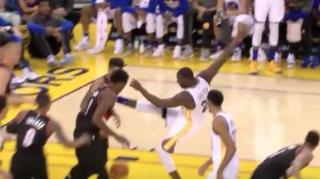 Image: Draymond Green is Back in Full Force, Nearly Kicks Allen Crabbe