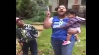 Image: Detroit Woman Shoots Her House While Ranting and Holding a Scared Baby