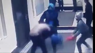 Image: Couple Beat Up and Rob Delivery Man in Bronx Building Lobby