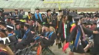 Image: Notre Dame Students Walk Out During Mike Pence's Graduation Speech