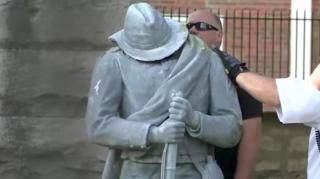 Image: Confederate Soldier Statue Found Toppled and Headless in Columbus, Ohio