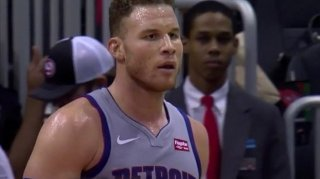 Blake Griffin Gets Technical Foul for Throwing Ball at Dennis Schroder's Head